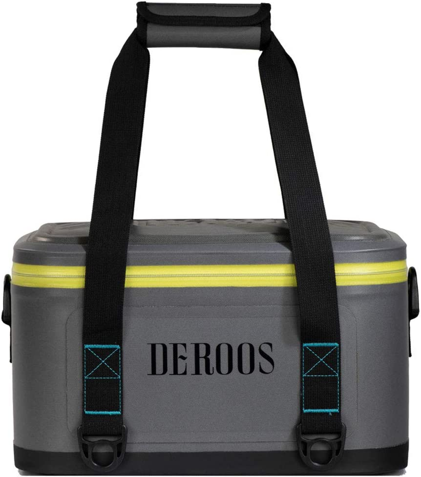 Outdoor Activities DEROOS Soft Cooler 18 Cans White Party Fishing Leak-Proof Portable Large Beach Cooler Soft Pack Cooler Bag Waterproof Insulated Soft Sided Cooler for Picnic Hiking Camping