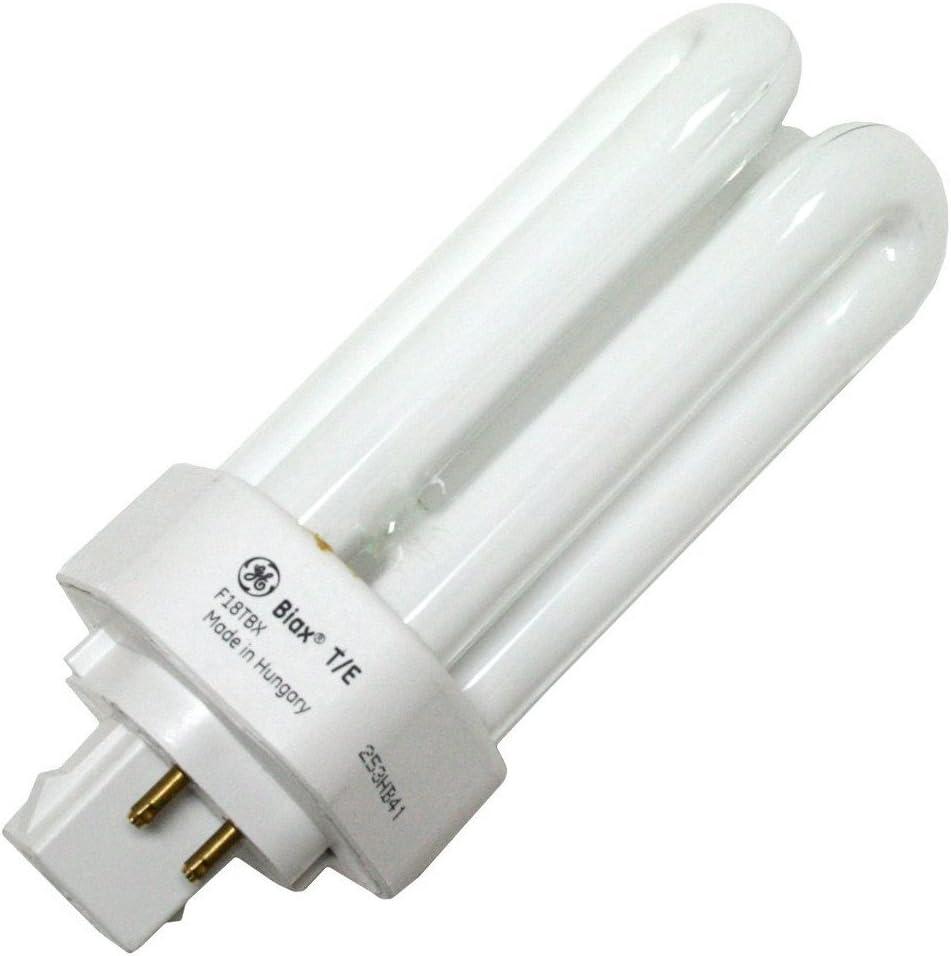 GE 97626 (12-Pack) F18TBX/835/A/ECO 18-Watt Energy Smart Ecolux Triple Tube Compact Fluorescent Light Bulb, 3500K, 1200 Lumens, 82 CRI, T4 Shape, 4-Pin GX24q-2 Base
