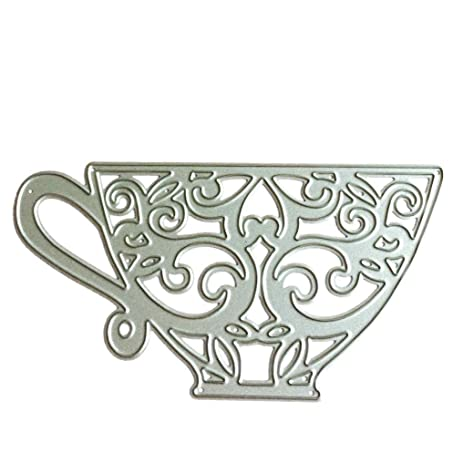 Amazon.com: Stencil ZTY66, Metal Teacup Cutting Dies / Template ...