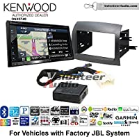 Volunteer Audio Kenwood DNX574S Double Din Radio Install Kit with GPS Navigation Apple CarPlay Android Auto Fits 2004-2010 Toyota Sienna with Amplified System