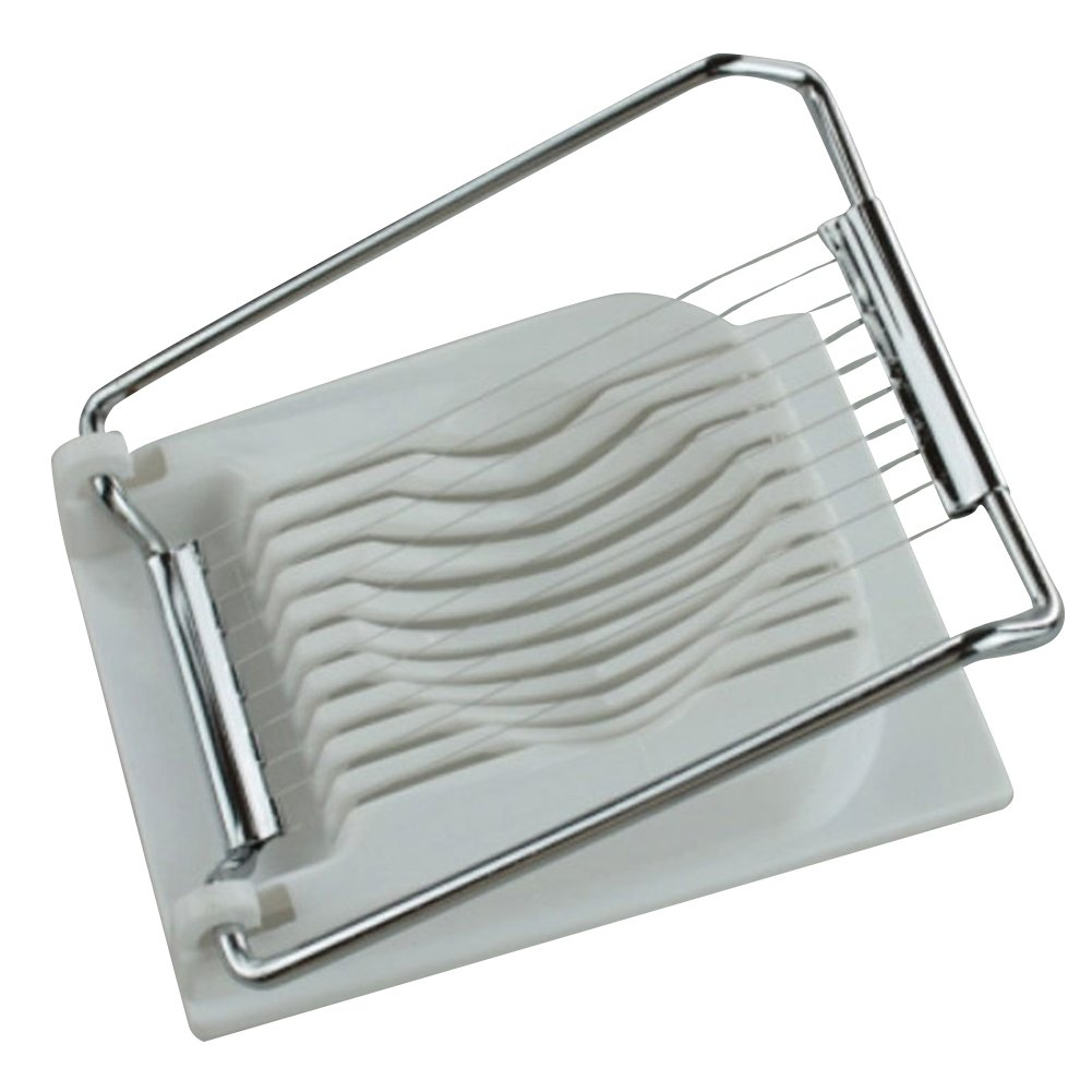iecool Stainless Steel Metal Practical Egg Slicer White by iecool