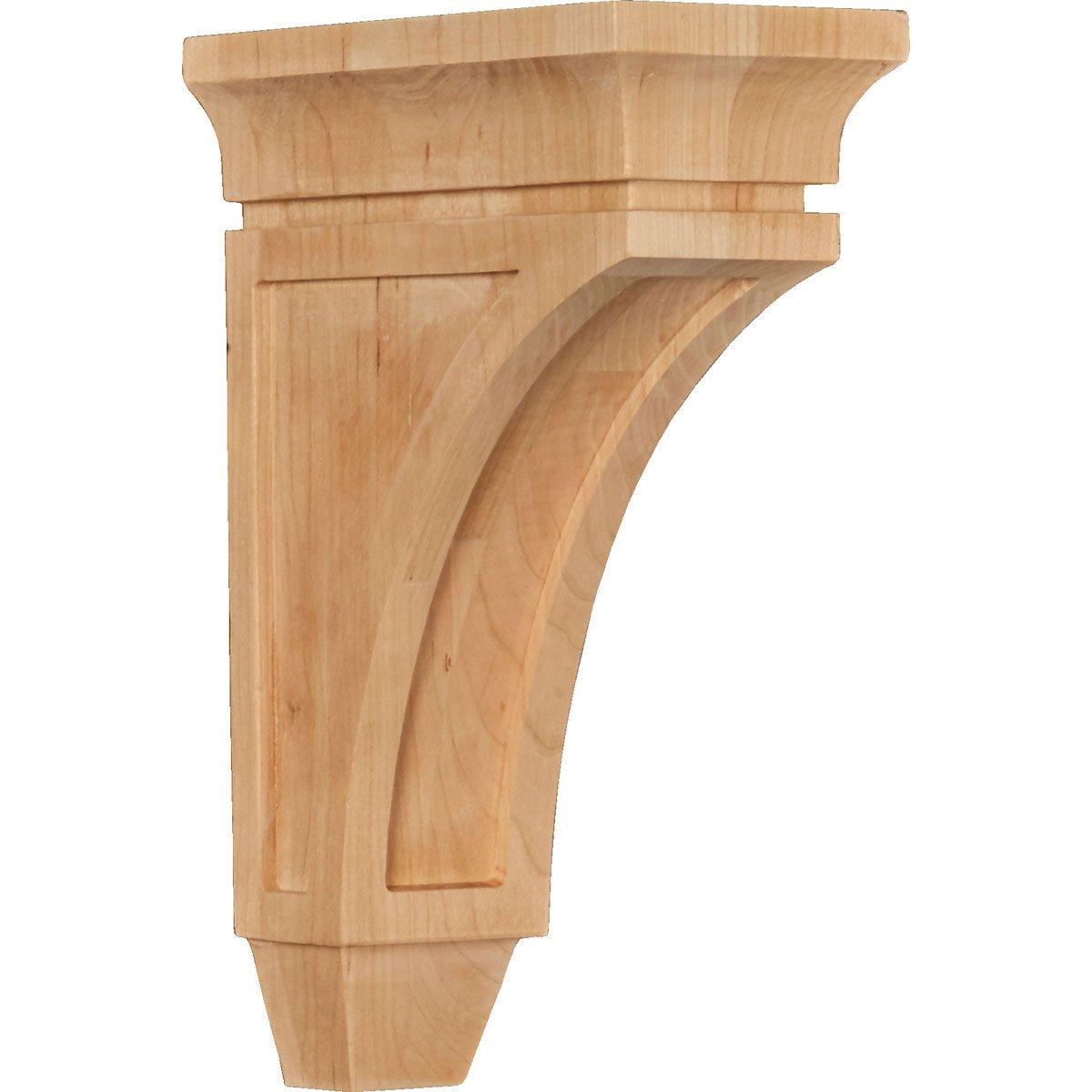 Maple 3 3//8W x 6 3//4D x 10H Ekena Millwork CORW03X07X10LUMA Wood Corbel