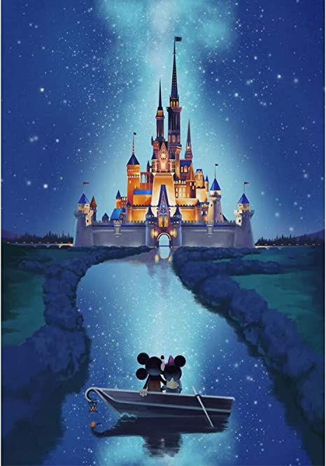 Crystal Rhinestone Full Diamond Sticker Painting Ice Castle Embroidery Picture DIY Rhinestone Art Craft Canvas for Home D/écor DIY 5D Diamond Painting 12X16Inch