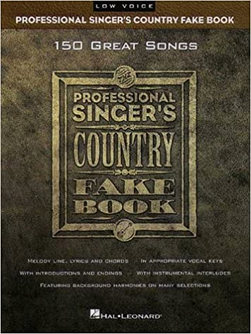 Professional Singers Country Fake Book Low Voice Fake Books Hal