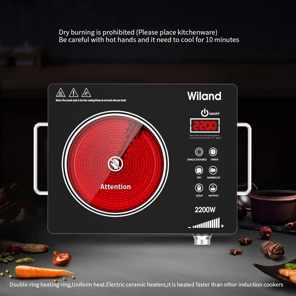 Amazon.com: Quemador de encimera portátil de inducción, 2200 ...