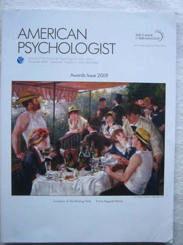 Download American Psychologist: Journal of the American Psychological Association {Volume 64, Number 8, November 2009} +++Special Awards Issue 2009+++ pdf epub