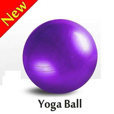 éclats Boule d'exercice, W-unique Heavy Duty Balle de fitness avec pompe à pied pour le yoga, pilates, fitness, la thérapie physique, gym et maison d'exercice