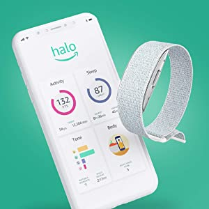 Introducing Amazon Halo - Health & wellness band and membership - Winter + Silver - Medium