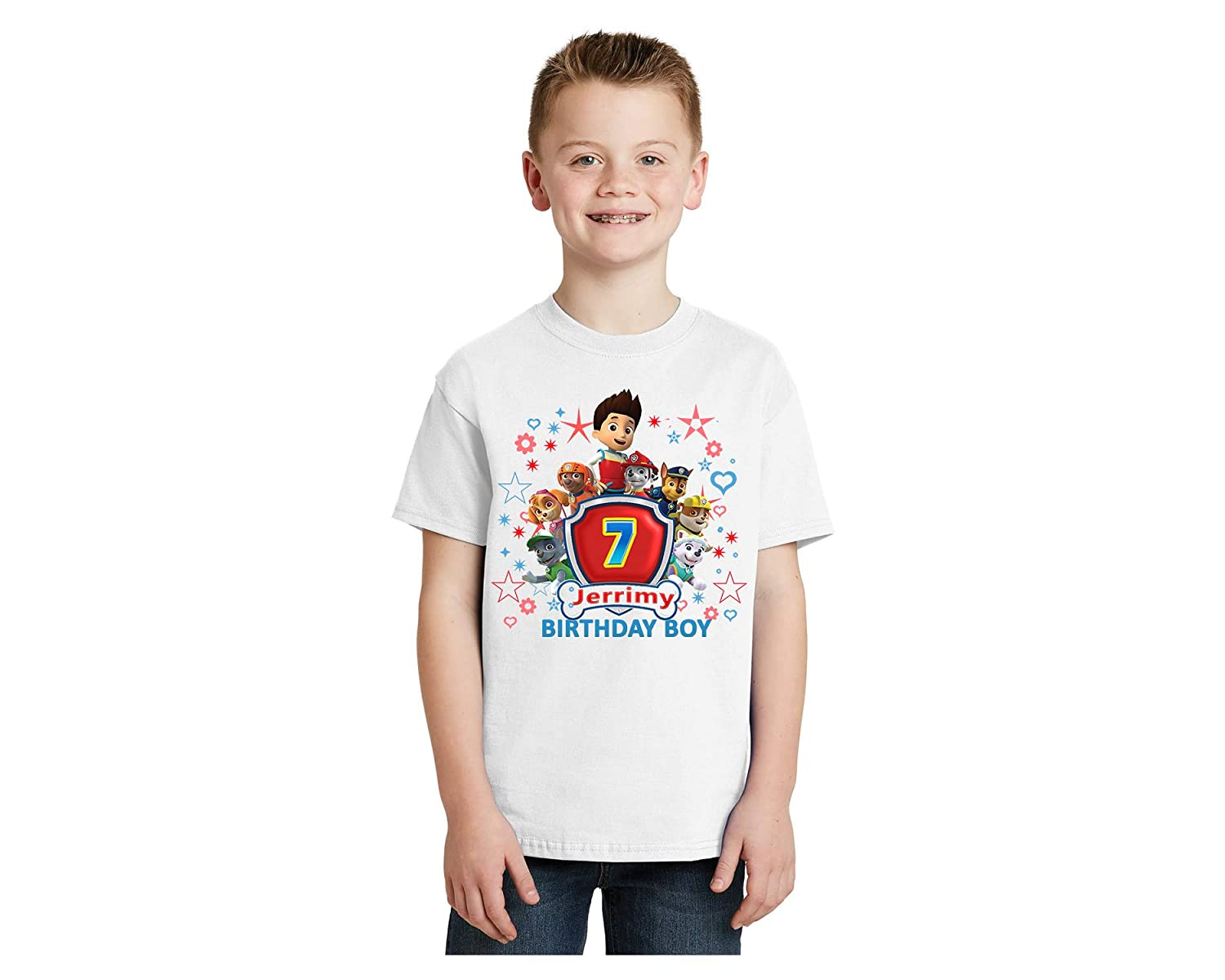 Amazon Paw Patrol ShirtPersonalized Birthday ShirtCustom Shirtbirthday Boy TshirtBirthday Party