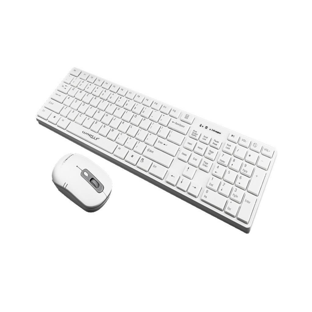 Cywulin Gaming Mouse and Gaming Keyboard Combo, Ultra Slim Cordless USB  Wireless Gaming Keyboard+Ultra-precise Optical 1600DPI Wireless Ergonomic