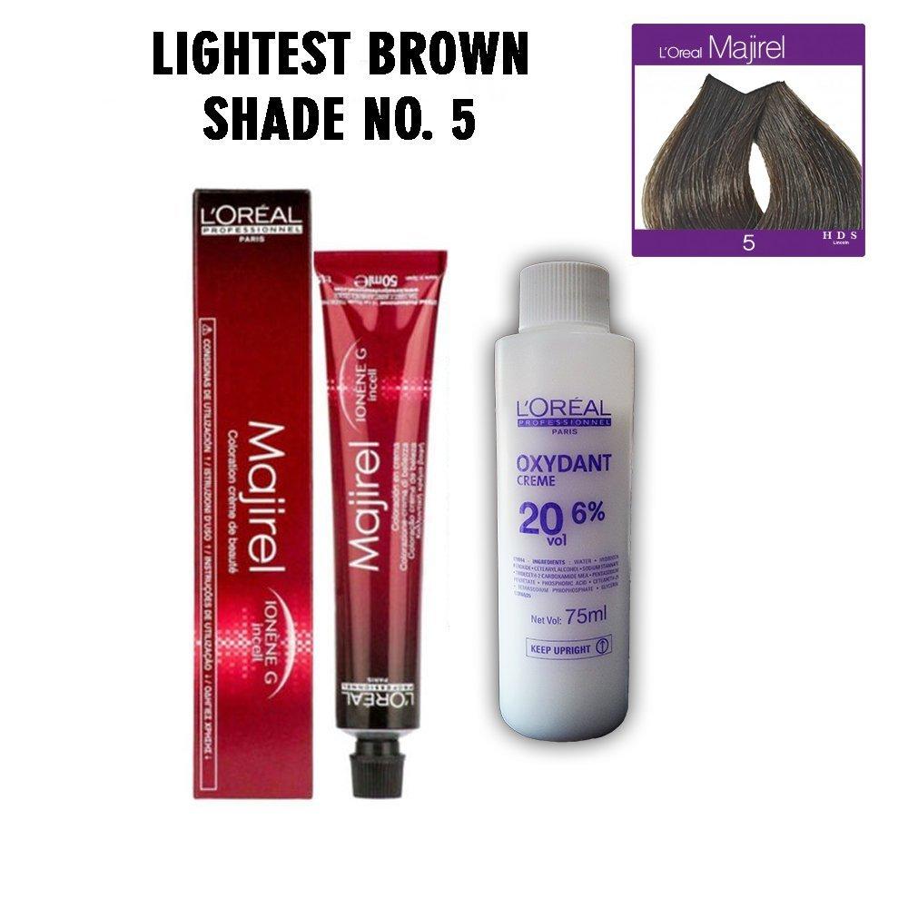 Buy Loreal Professionnel Majirel 5 Lightest Brown 495 G