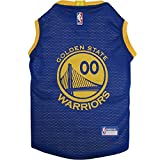 Pets First Golden State Warriors Dog Basketball Mesh Jersey, Large