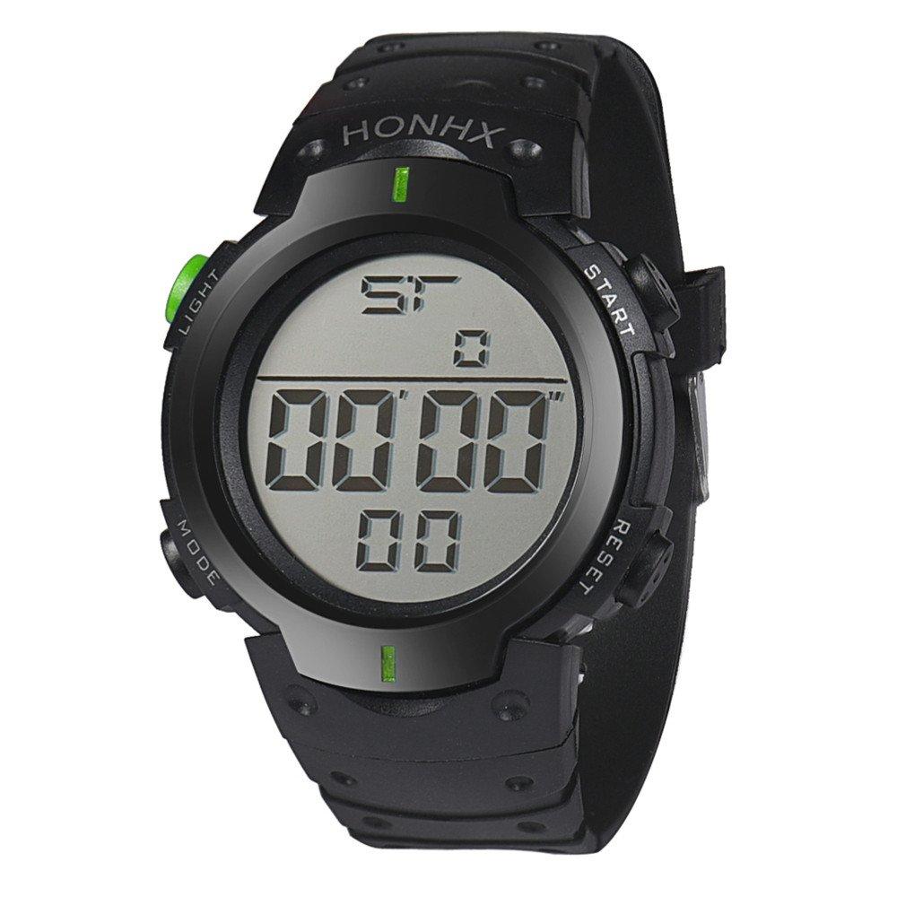 Casual Watches for Men Clearance,Fashion Waterproof Men's Boy LCD Digital Stopwatch Date Rubber Sport Wrist Watch,Sports Fan Watches,Green by CieKen Watch (Image #5)