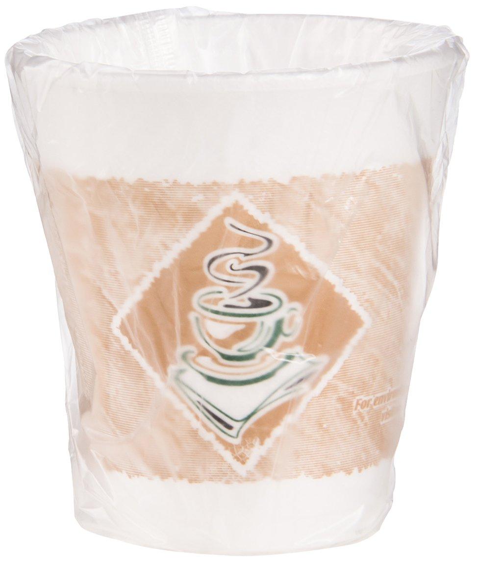 Dart 8X8GWRAP Indiv Wrapped - 8 oz Cafe G Foam Cup (Case of 900)