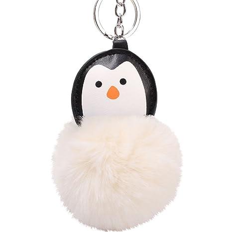 MAJGLGE - Llavero con diseño de pingüino, Color Beige ...