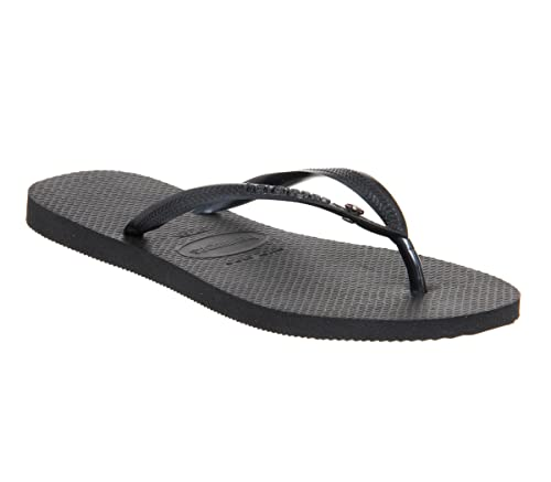 41aadceaa Havaianas Slim Crystal Glamour Swarovski Flat Flip Flop - Black ...