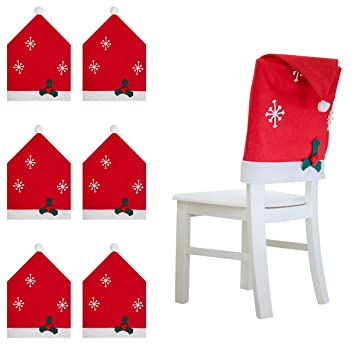 6 Packs Christmas Chair Back Covers