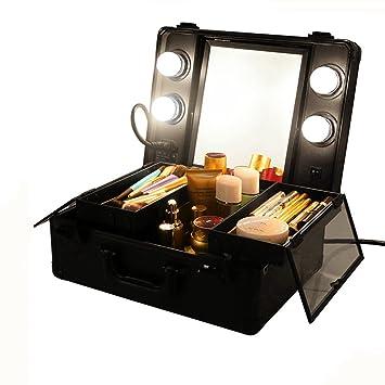 Vanity Suitcase With Lights Mesmerizing UNHO Mini Led Light Makeup Suitcase Travel Cosmetic Storage Beauty