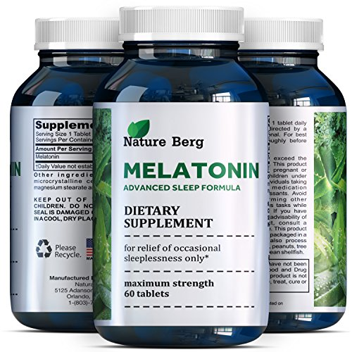 Natural Melatonin Sleep Aid - 3 mg Weight Loss Tablets for Men and Women - Pure and Potent Chewable Supplement - Antioxidant and Antiaging Purposes - Healthier and Easier Sleeping Habits