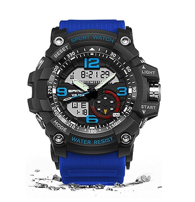 Militar reloj hombres impermeable reloj deportivo para hombre relojes primera marca reloj de lujo camping Buceo