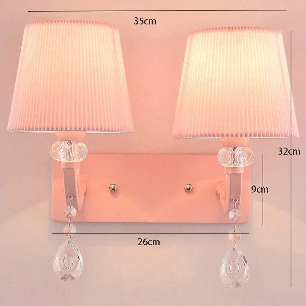 WISDOM Lampada da Parete a LED Lampada da Comodino Camera da Letto Calda Lampada da Bambini rosa Semplice e Creativa,35  32 Centimetri,rosa