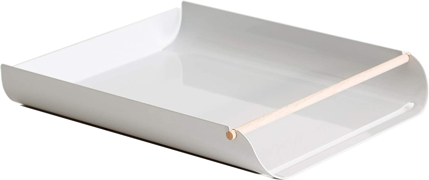 U Brands Metal Letter Tray, Desktop Accessory, Arc Collection, Grey (3548A02-06)