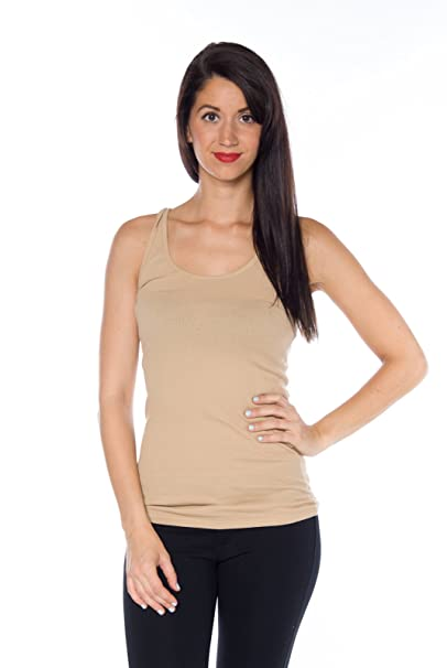 2fff49b3fb784 Amazon.com  Active Basic Women s Ribbed Tank Top  Clothing