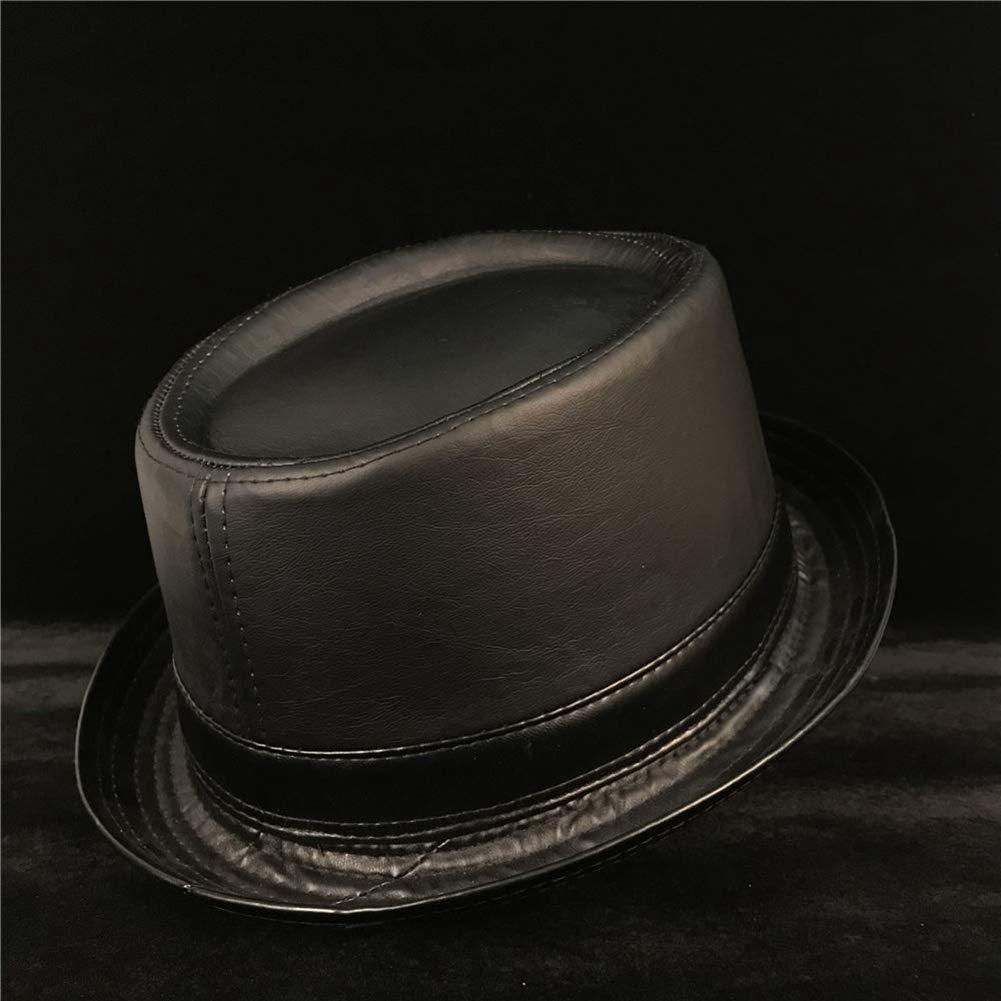 Men Pork Pie Fedora Hat Fashion Gentleman Balck Flat Bowler Jazz Hat
