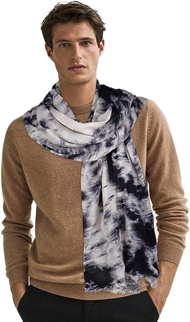 Lightweight Scarves for Men Fashion Tie Dye Scarf Soft Cotton Neck Scarfs  Long & Warm Shawl (Black) at Amazon Men's Clothing store
