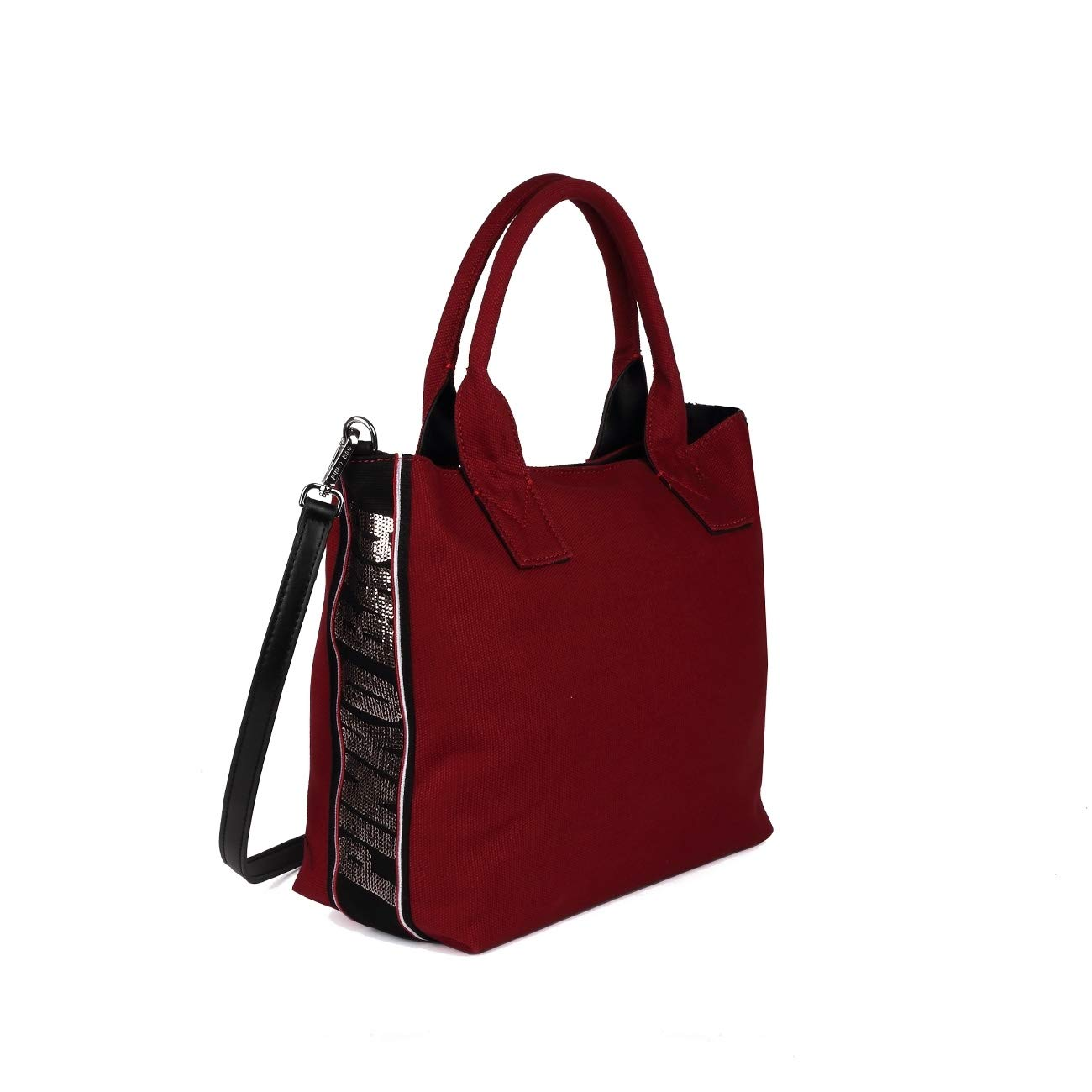 PINKO BAGS SHOPPING BAG IN CANVAS CON PAILLETTES CRESTOSO Donna Bordeaux   Amazon.it  Abbigliamento 6023cf5785a
