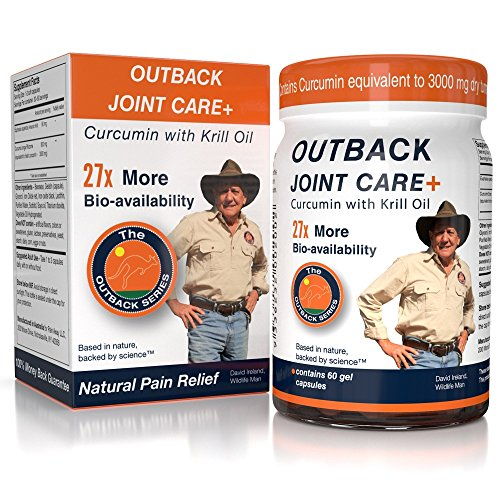 Joint Care Supplement | Bioavailable Curcumin with Krill Oil for 27x Better Absorption, Equivalent to 3000mg Dry Turmeric Supplements, No Black Pepper Needed, 60 Capsules