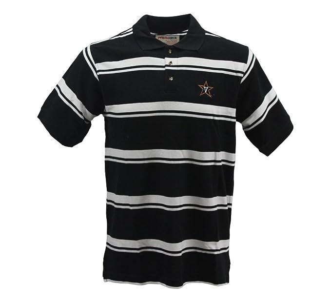 5ec0431b9a Royce Apparel Pressbox Men's Vanderbilt Striped Black/White Polo ...