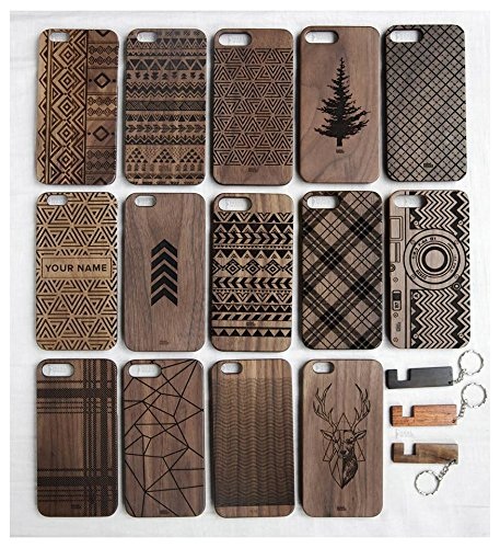 Miniwood iPhone/ Samsung Case - Natural Real Wooden, Laser Engraving, Unique, Classy & Stylish Wood, Unique Case, Protective Bumper with Real All Wooden Cover, Unique Gift for Friends, Her, - Sunglasses Cheap Coach