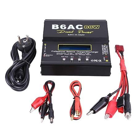 Cargador de batería RC, 80W DC/AC Dual Power RC Cargador ...