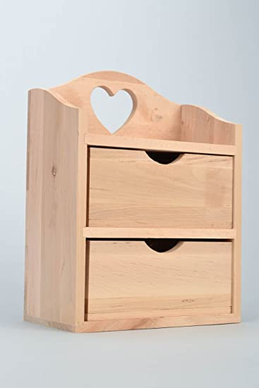 Amazoncom Handmade small wooden mini bureau jewelry box craft