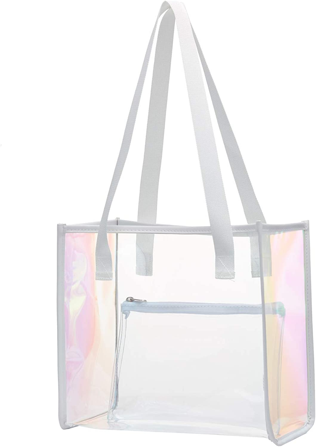 Work Security Travel Clear Purse Clear Bag Stadium Approved Stadium Venues or Concert(2 Pack) MAY TREE Clear Tote Bag Great for Sports Games