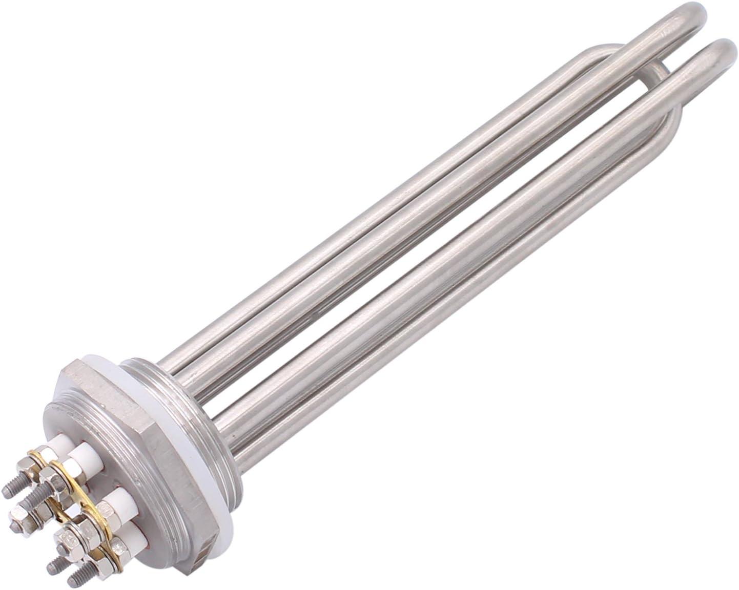 380V 12000W /Él/ément chauffant pour R/éservoirs /à Eau Acier Inoxydable AIICOO R/ésistance Chauffante 1.5 inch Flange Capuchon et Bague D/étanch/éit/é sont pr/évus Thermoplongeur