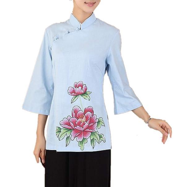 Las Mujeres Chinas Cheongsam Tops Qipao Camisas para Mujer ...