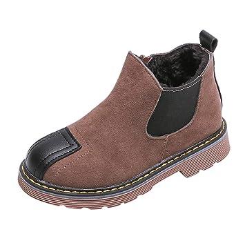 Kids/' Floral Ankle Boots Side Zipper Slip-On Rain Shoes Toddler//Little Kid