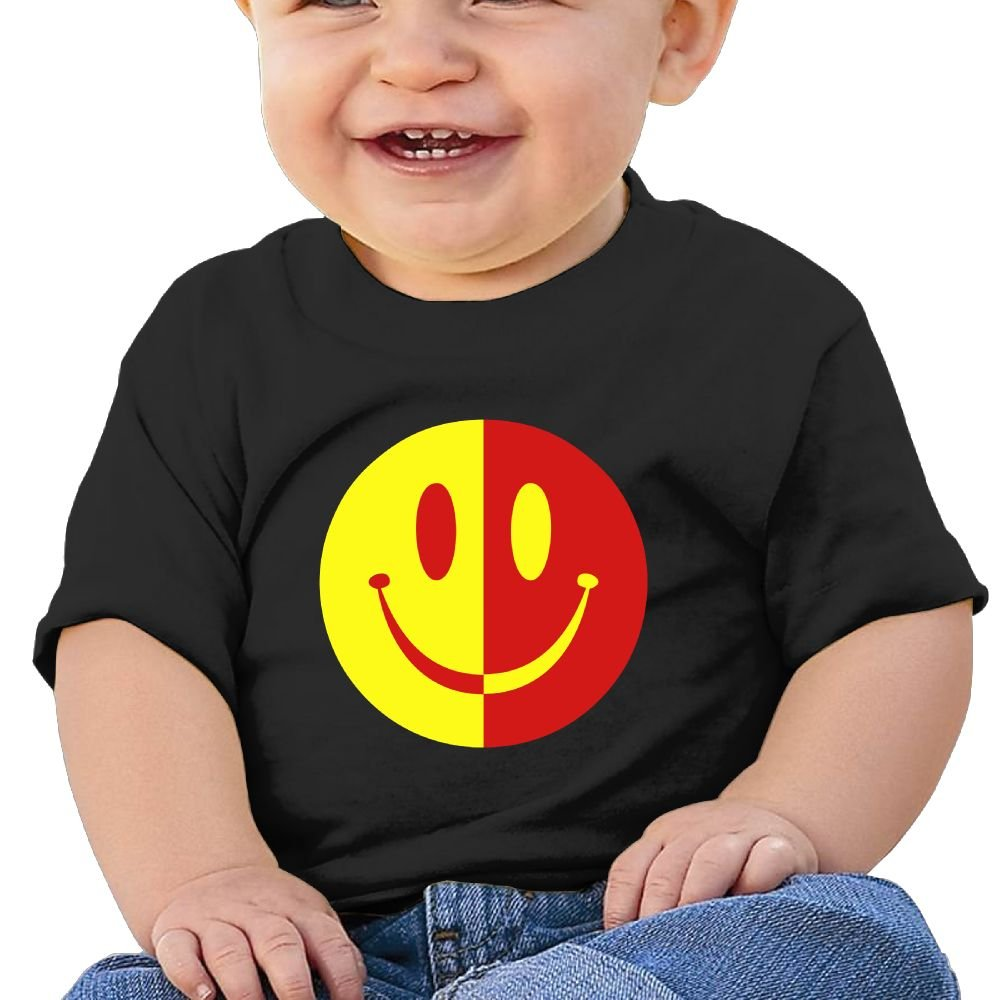 2 Colour Smile Cotton Short Sleeve T Shirts For Baby Toddler Infant