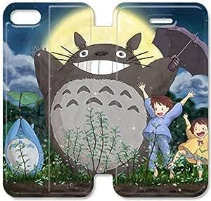 Funda del tirón del cuero de la PU del soporte para el Funda iPhone 5 de 5S, Bricolaje 5 caja del teléfono celular 5S Mi Vecino Totoro Funda de cuero Niza Cartoo N0X1BR Batman Funda iPhone