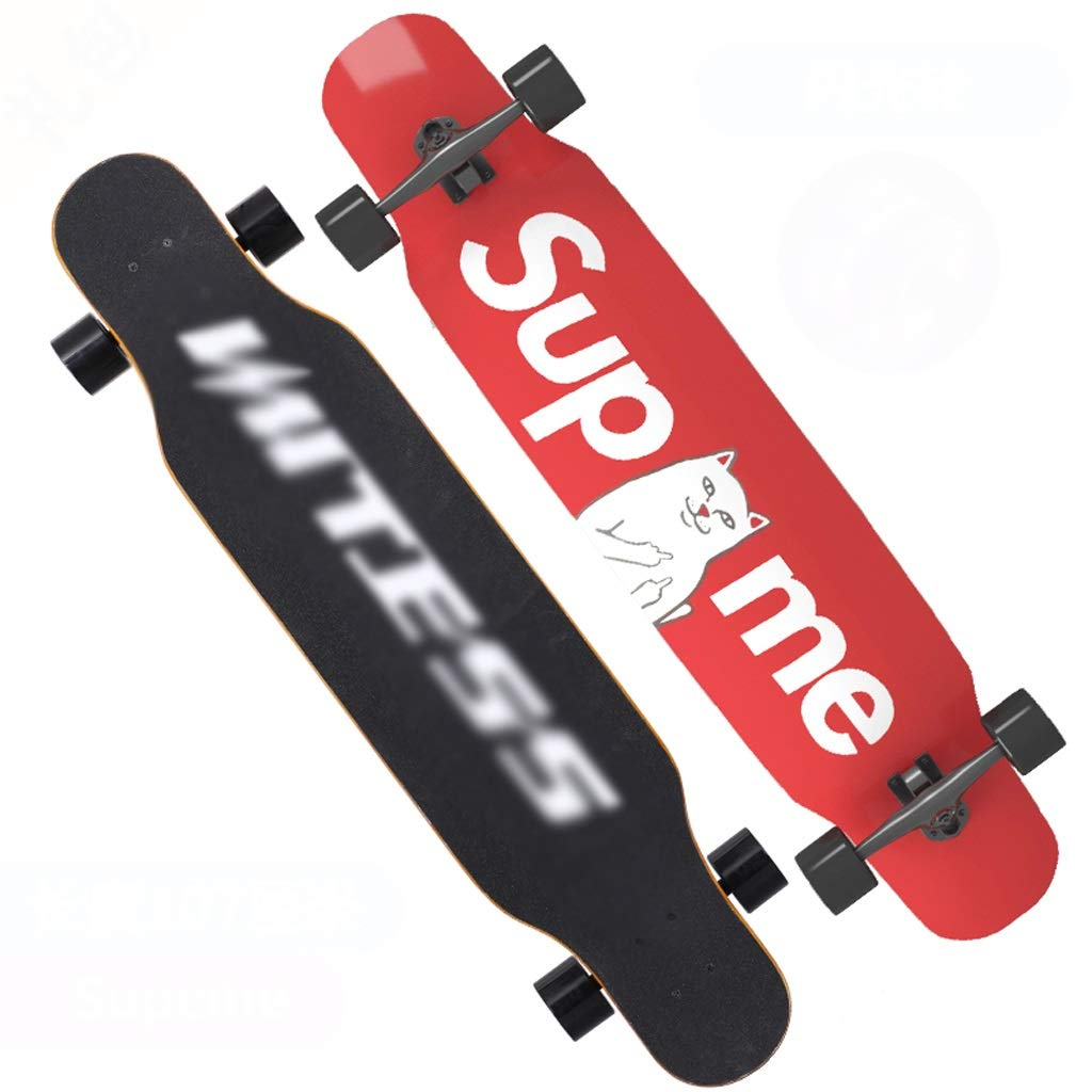 人気No.1 DUWEN : スケートボード初心者メープルロングボード大人用男の子と女の子用ブラシストリートダンスボードティーンズ四輪スクーター(フラッシュ付き) D (色 : B07PDJKT9J A) B07PDJKT9J D D, 三鷹市:3f09cff0 --- quiltersinfo.yarnslave.com
