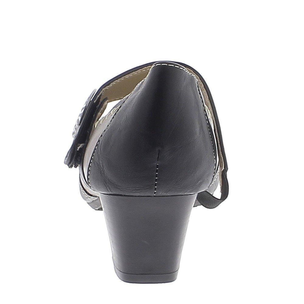Zapatos de Mujer Negro y Cobre cómodos Tacones pequeños DE 4 93463a218355
