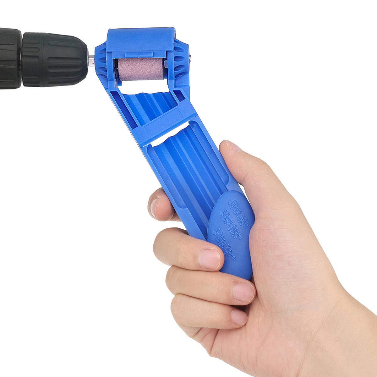 Effetool Portable Drill Bit Sharpener Corundum Grinding Wheel Hand Portable Powe