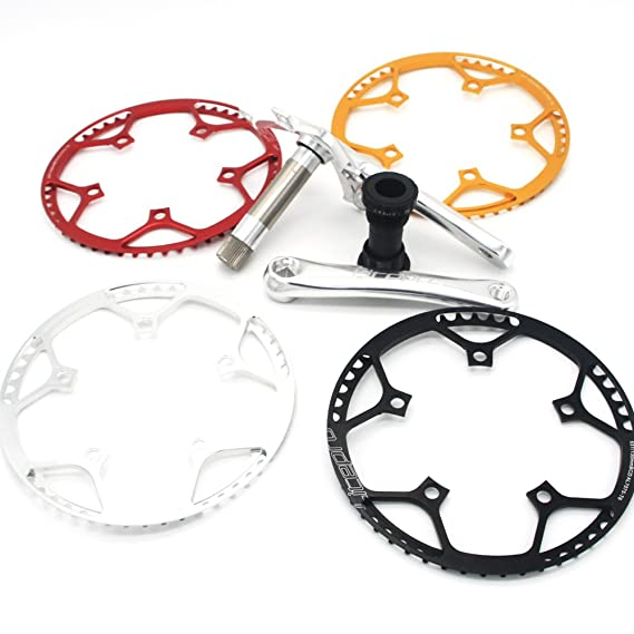 LP AL6061 53T bicicleta plegable Bielas (platos Fit bya412 P8 SP18 bicicleta partes con al 7075 plato, rojo: Amazon.es: Deportes y aire libre