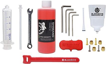 Freno de Aceite Mineral Juego de Embudo Herramienta de Reparaci/óN de Bicicletas Nrpfell Kit de Purga de Freno Hidr/áUlico para Sistema de Frenos