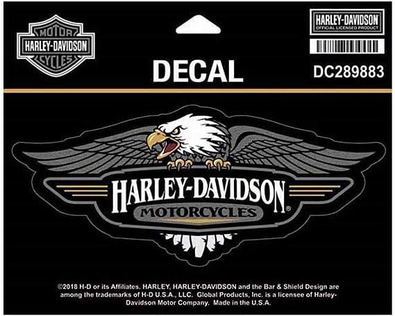 Harley Davidson Dc289883 Aufkleber Mit Adler Logo Md Größe 15 2 X 6 4 Cm Harley Davidson Auto