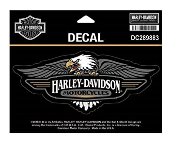 Harley-Davidson Vintage Eagle Logo Decal, MD Size - 6 x 2 5 inches DC289883