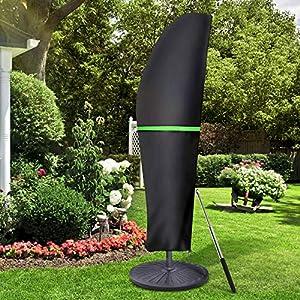 GEMITTO Funda Protectora para Parasol (diámetro 1-3 m), Cubierta Impermeable para sombrilla de jardín, Cubierta Impermeable con Cremallera para sombrilla