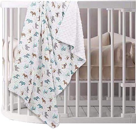 Manta de 100% algodón para bebé con respaldo punteado Manta de ...